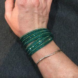 Swarovski Emerald Green Slake wrap bracelet